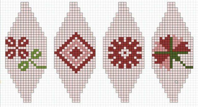 棒针编织球体的漂亮提花图案