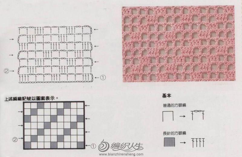 方眼编织基本图案