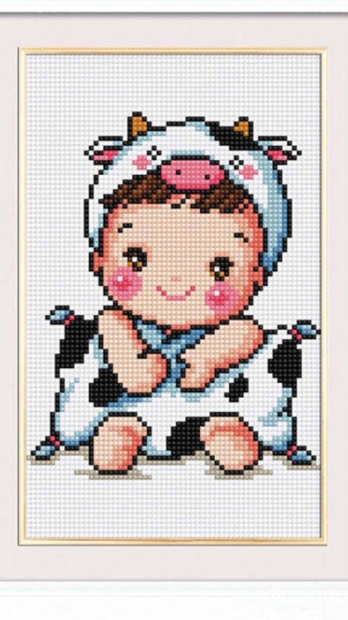 十二生肖牛宝宝绣图