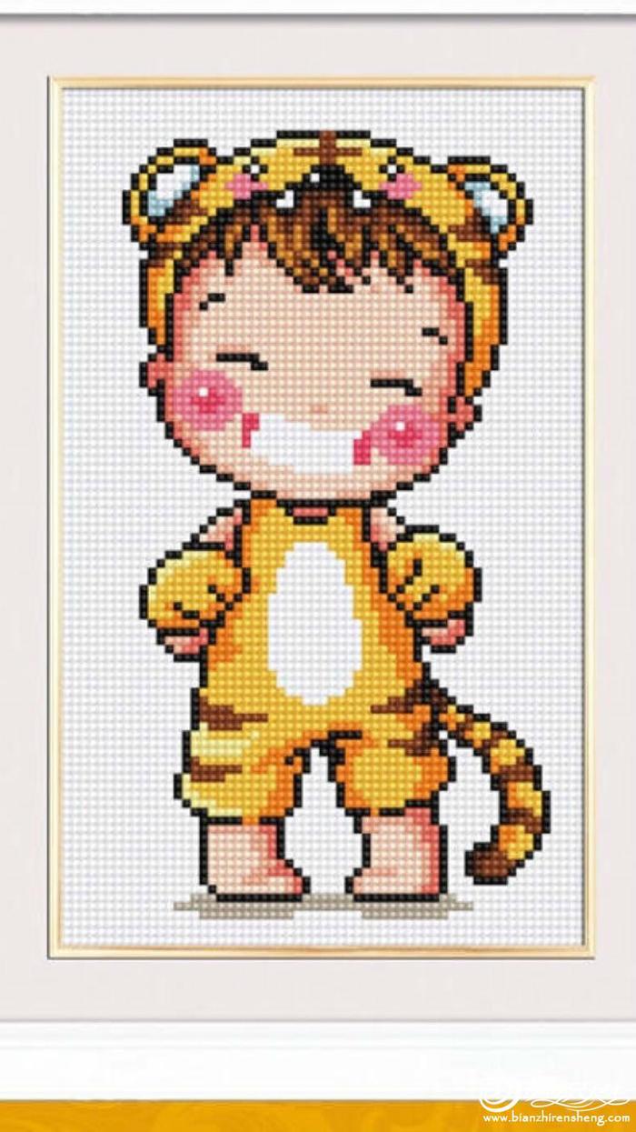 虎娃娃毛衣绣