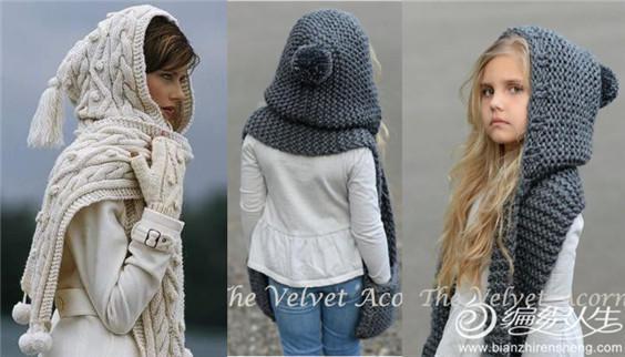 除以上款式外还有就是帽子效果比较突出的连帽披肩,更适合宝宝使用,其萌可爱的效果,几乎可以萌化所有看到它的人。更多潮款可以参见之前的分享(相关阅读:萌娃和潮童就差了一顶独特古怪的毛线帽!),这里继续上绝对的干货,让你也可以拥有这些萌物,在此感谢分享这些美物的编织达人们。