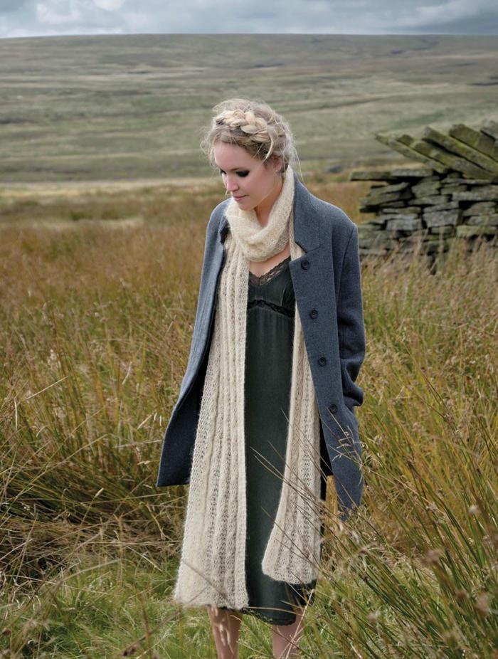 Agyle田园森女风女士棒针长围巾