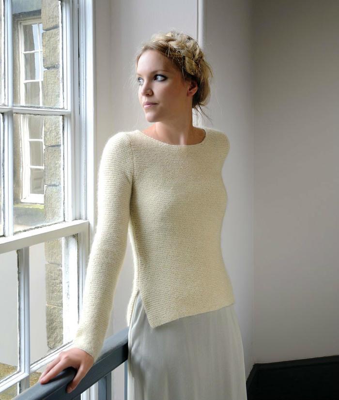 白色女士套头毛衣