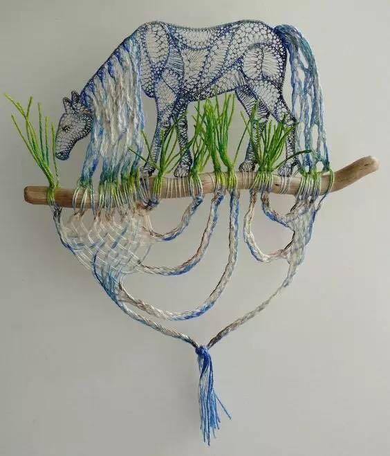 编织资讯 手工diy 当毛线遇上树枝,真的被玩坏了