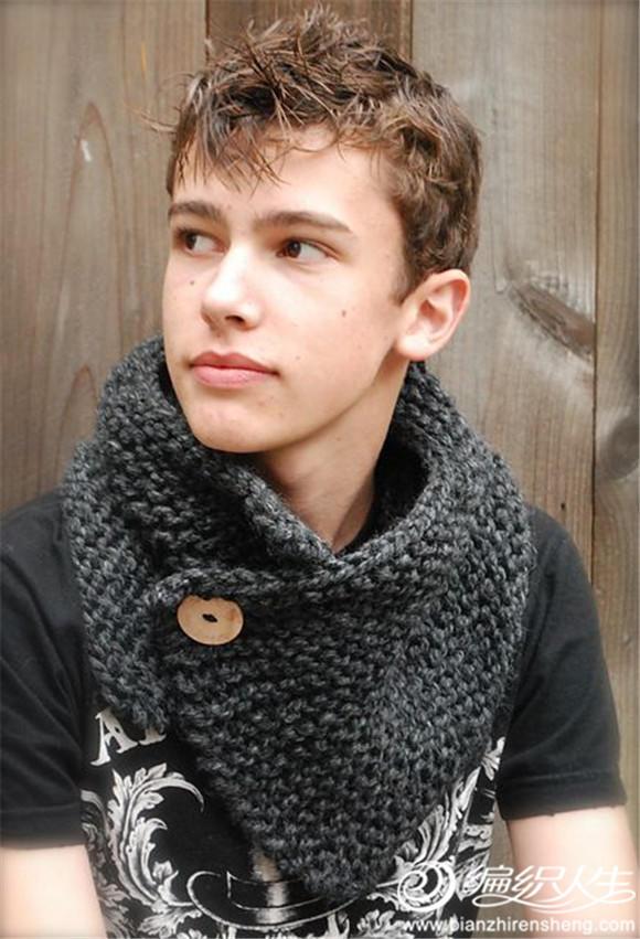 粗針織男士圍巾