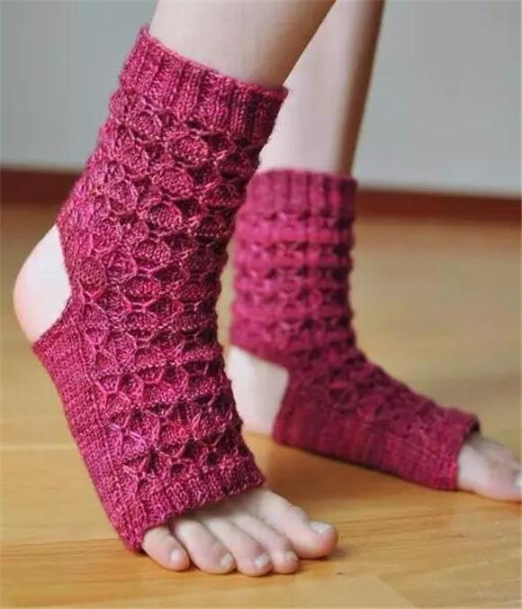 棒针瑜珈袜