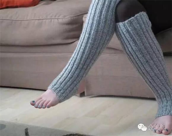 毛线编织长袜