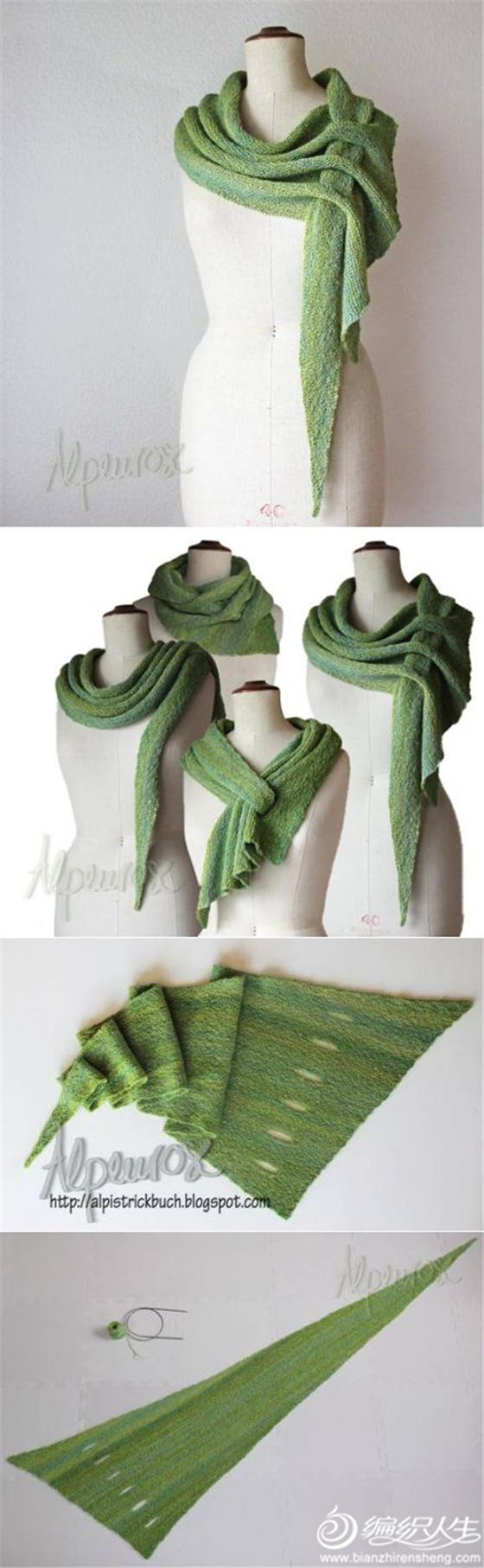 创意围巾编织