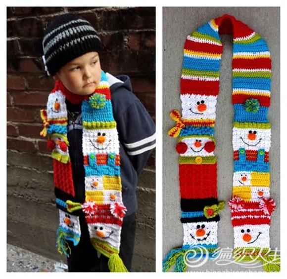 毛线编织创意儿童围巾