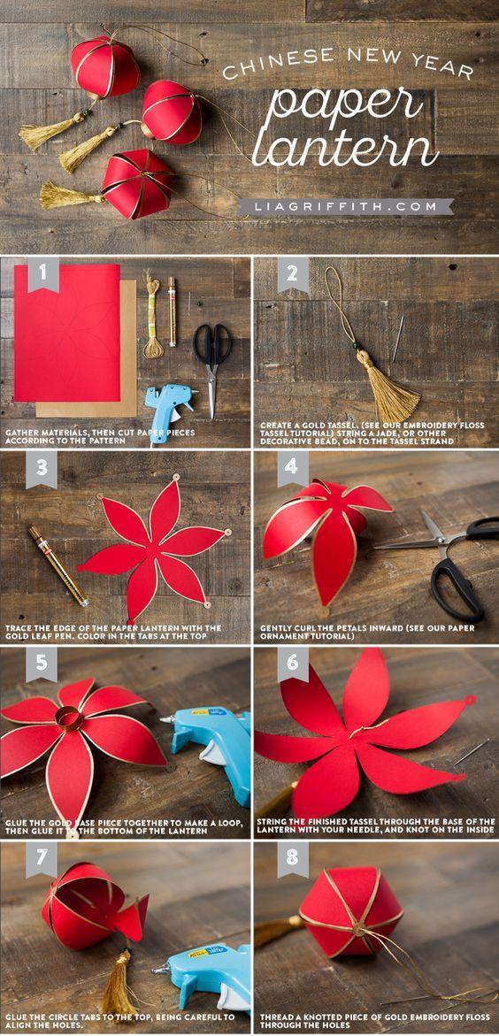 红灯笼的制作方法