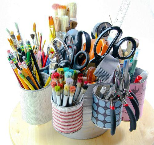 咖啡罐改造笔筒组
