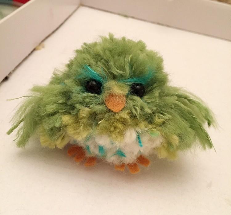 毛线DIY小鸟