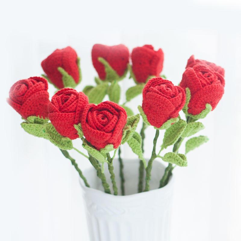 趣编织钩针玫瑰