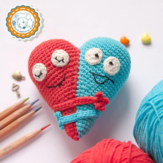 趣味毛线编织爱心