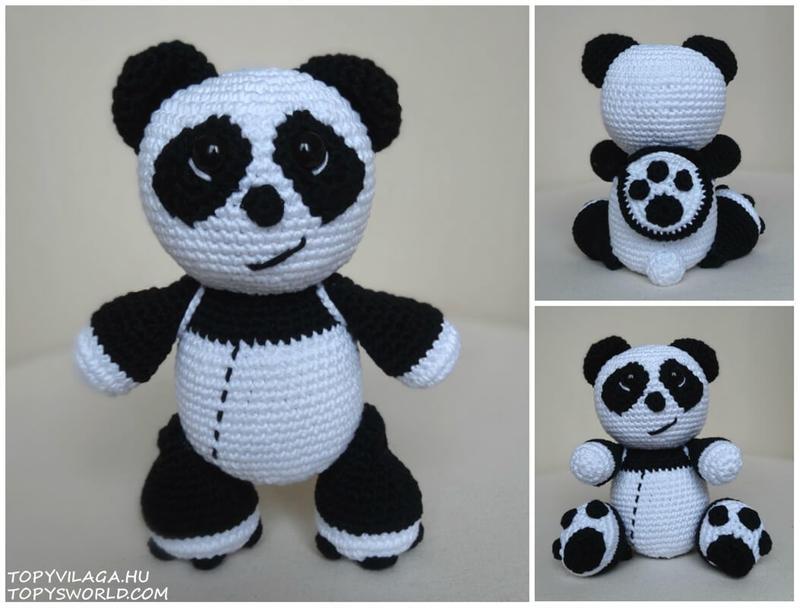 Topy Panda钩针熊猫