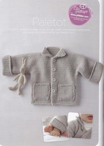 婴幼儿棒针小翻领开衫毛衣
