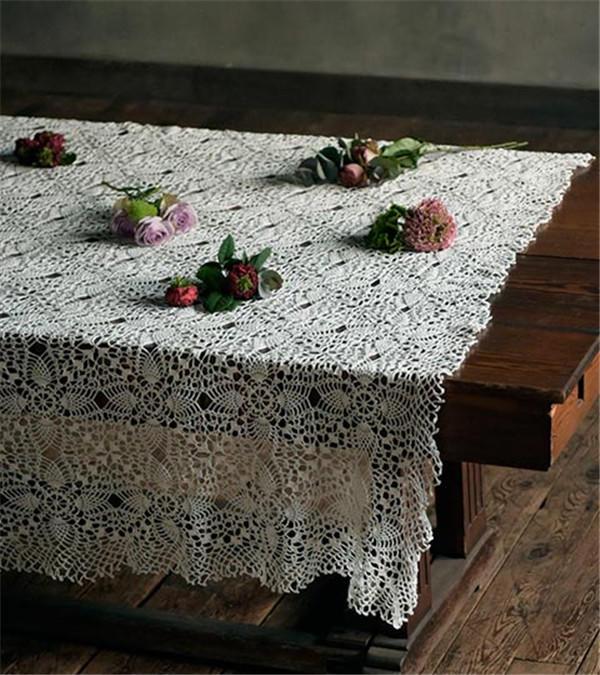 复古钩针蕾丝桌布