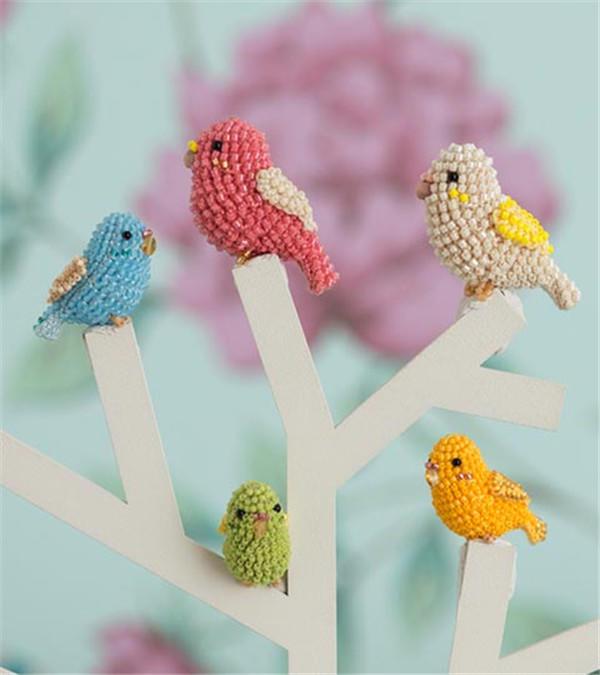 钩珠结合小鸟