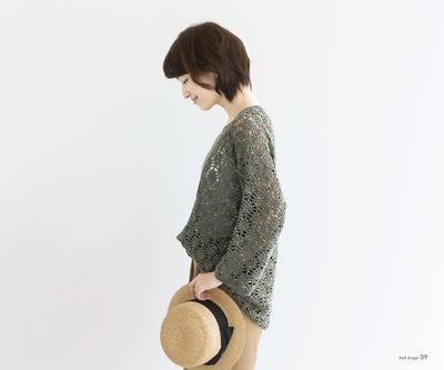 钩针长袖套衫
