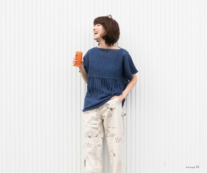 手工编织女士春夏短袖衫