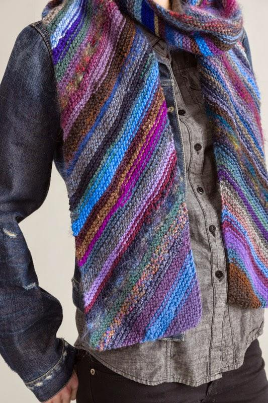 斜纹棒针围巾
