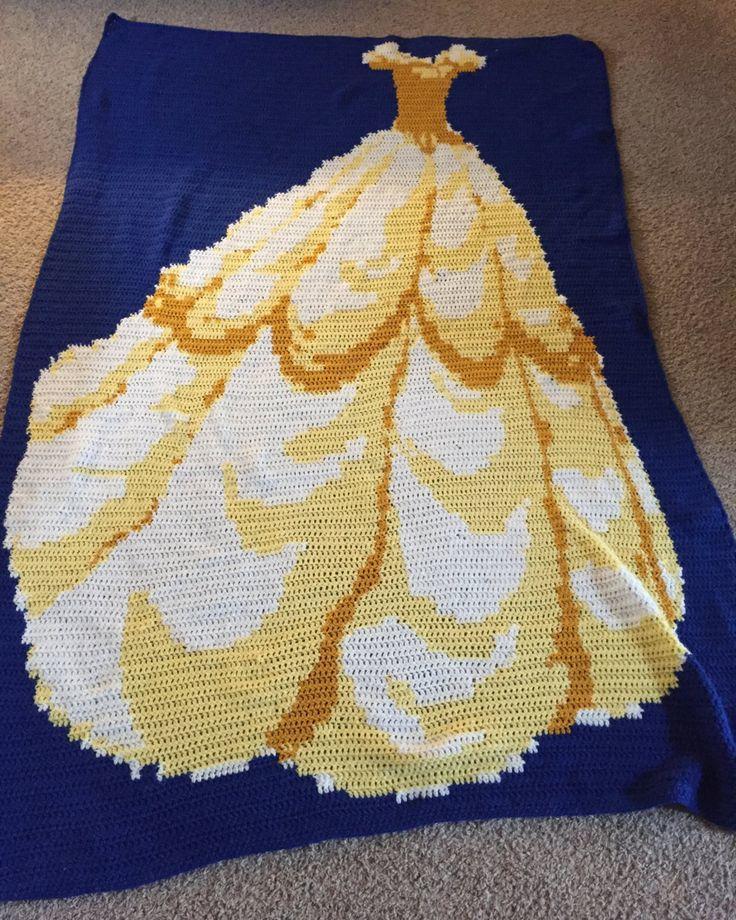 贝儿公主毛线毯