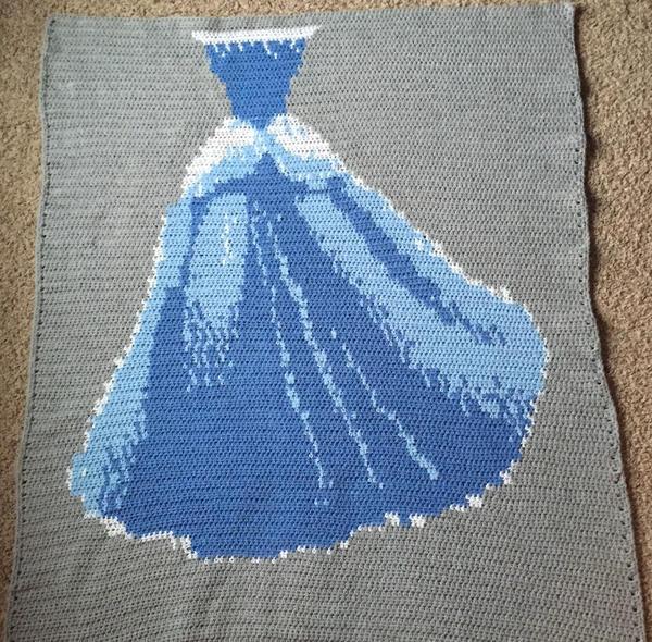 钩针白雪公主毯