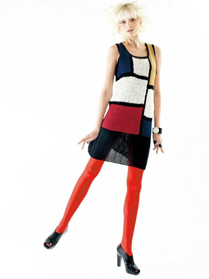 抽象图案女士棒针背心裙