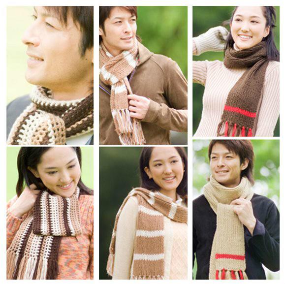 手工编织情侣围巾