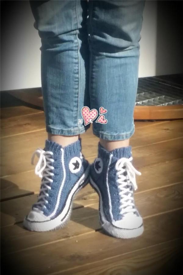 毛线运动鞋