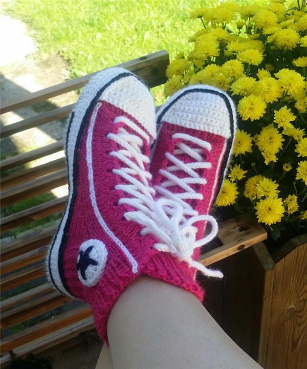 钩织结合运动鞋