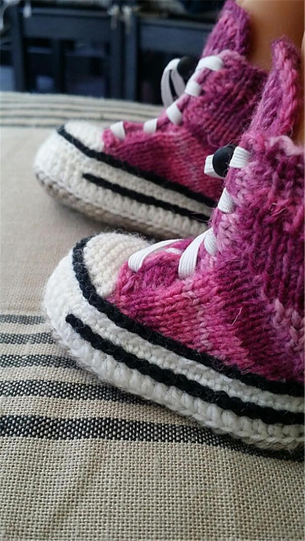 宝宝毛线鞋