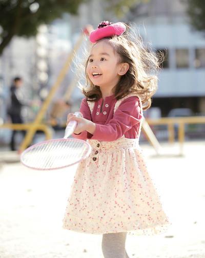 儿童棒针背带裙
