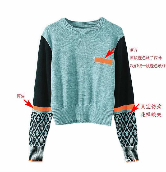 《我的前半生》罗子君同款棒针拼色提花毛衣 花样图解分享