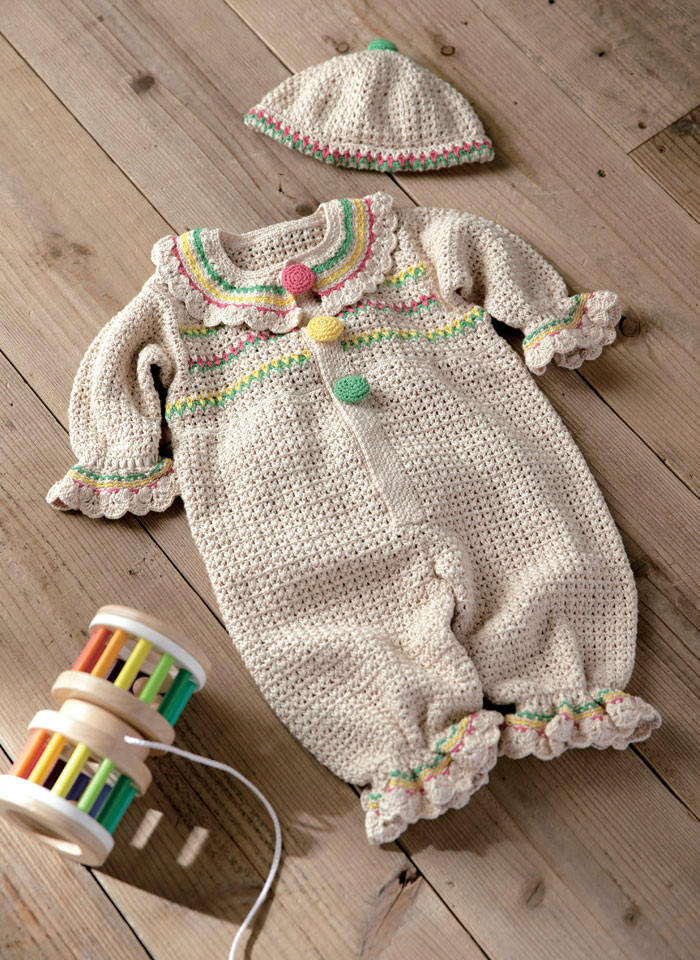钩针宝宝连体衣