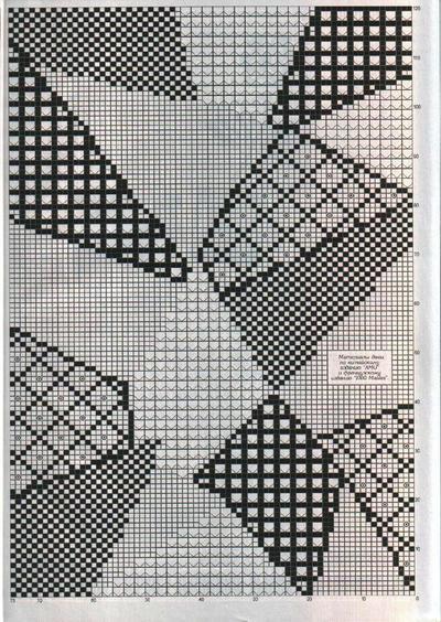 方格编几何图案
