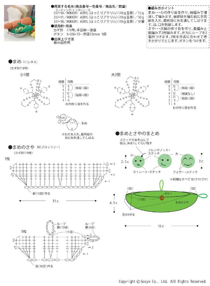 钩针豌豆荚