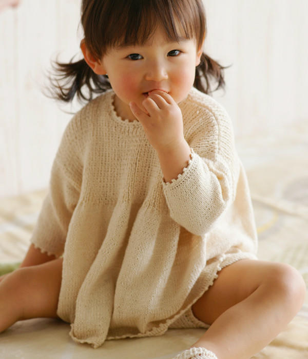 宝宝棒针娃娃衫