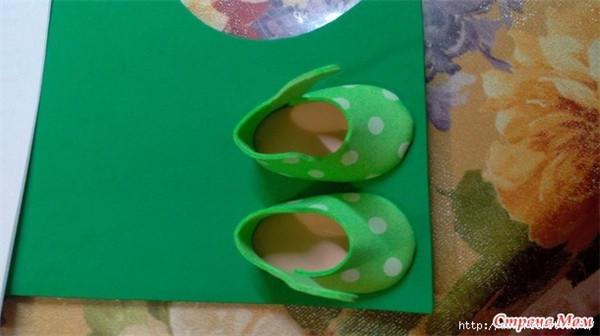 简单漂亮布艺毛线娃娃鞋制作过程图 娃娃服饰diy-编织