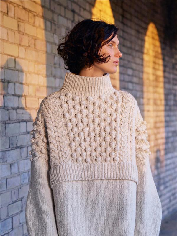 普林格女士棒针毛衣