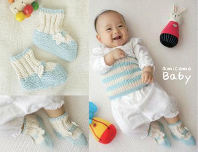 新生儿毛线袜子
