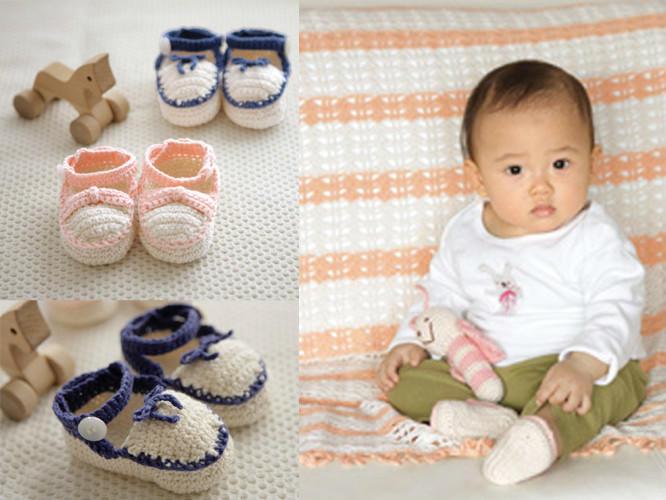 系带宝宝钩鞋