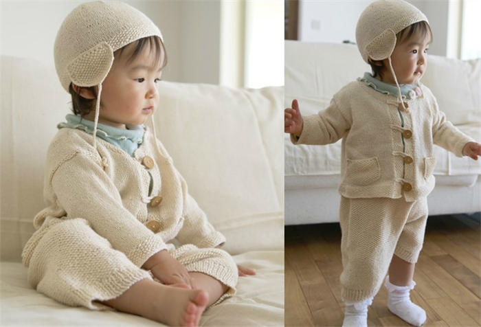 毛线编织宝宝套装