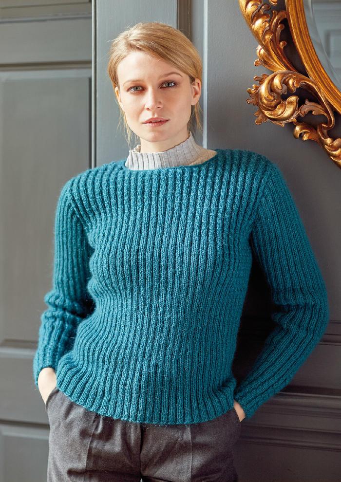Daybreak(Marie Wallin)女士棒针麻花罗纹毛衣