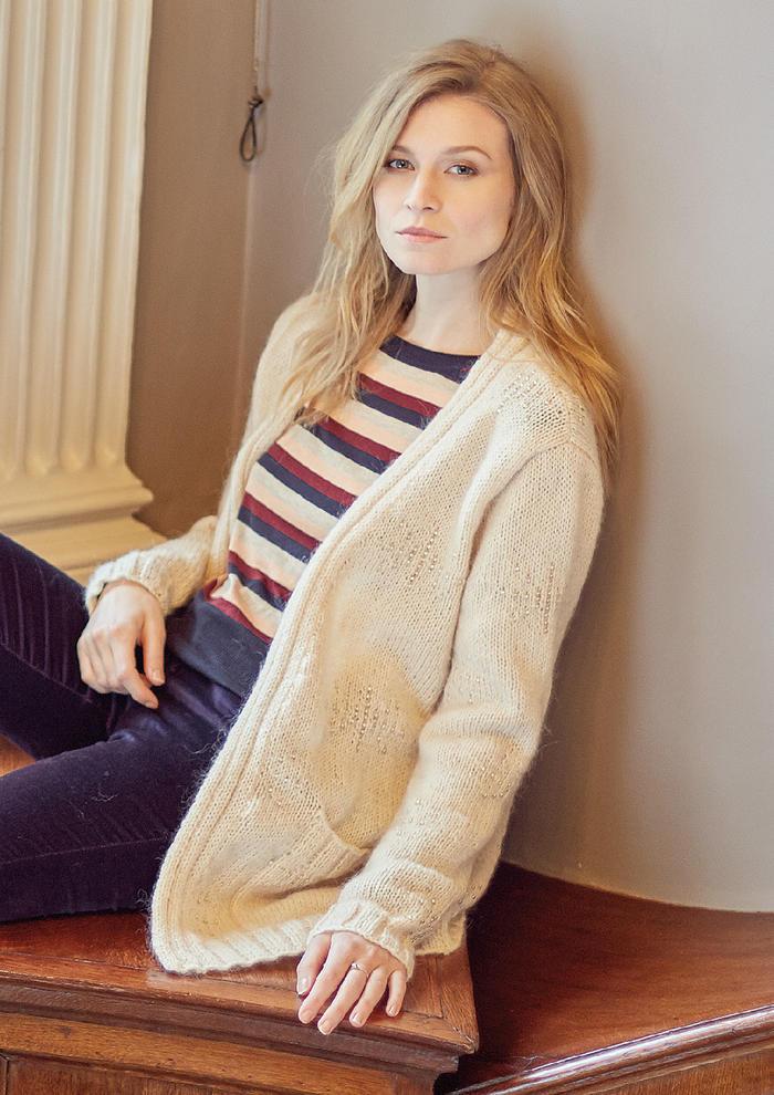 Eventide(Lisa Richardson)女士棒针中长款开衫毛衣
