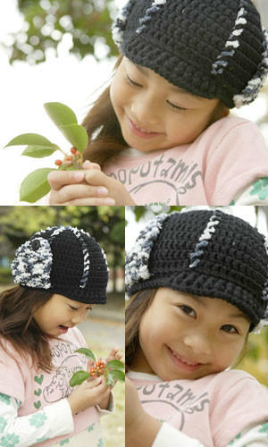 儿童钩针雷锋帽