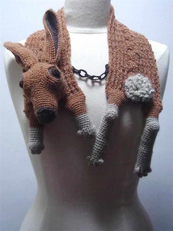 创意钩针动物围巾