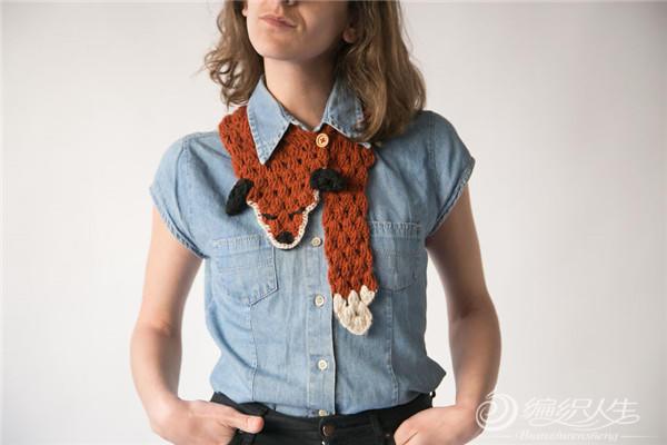 钩针动物领巾