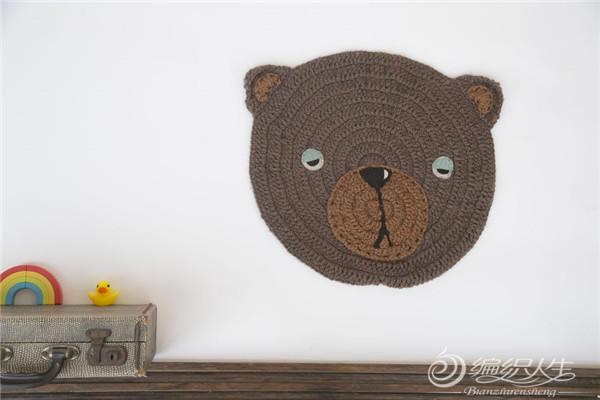 钩针小熊垫