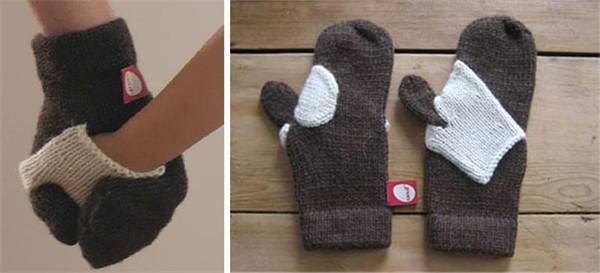 棒针亲子手套